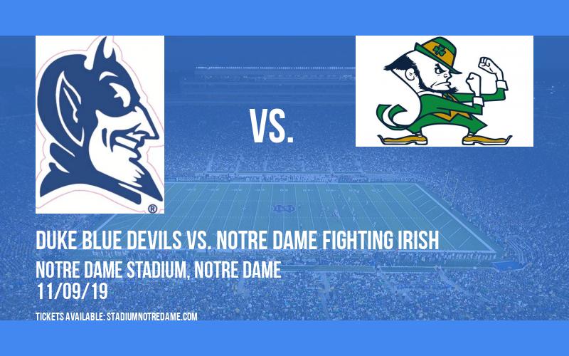 PARKING: Duke Blue Devils vs. Notre Dame Fighting Irish at Notre Dame Stadium