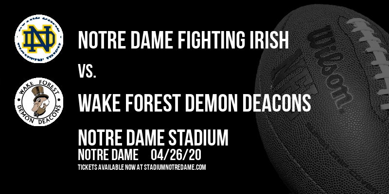 Notre Dame Fighting Irish vs. Wake Forest Demon Deacons at Notre Dame Stadium