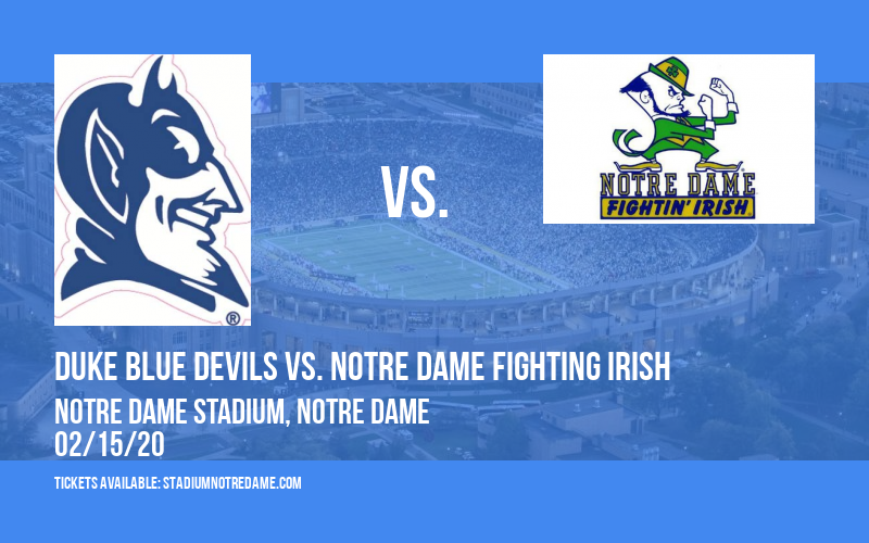 Duke Blue Devils vs. Notre Dame Fighting Irish at Notre Dame Stadium